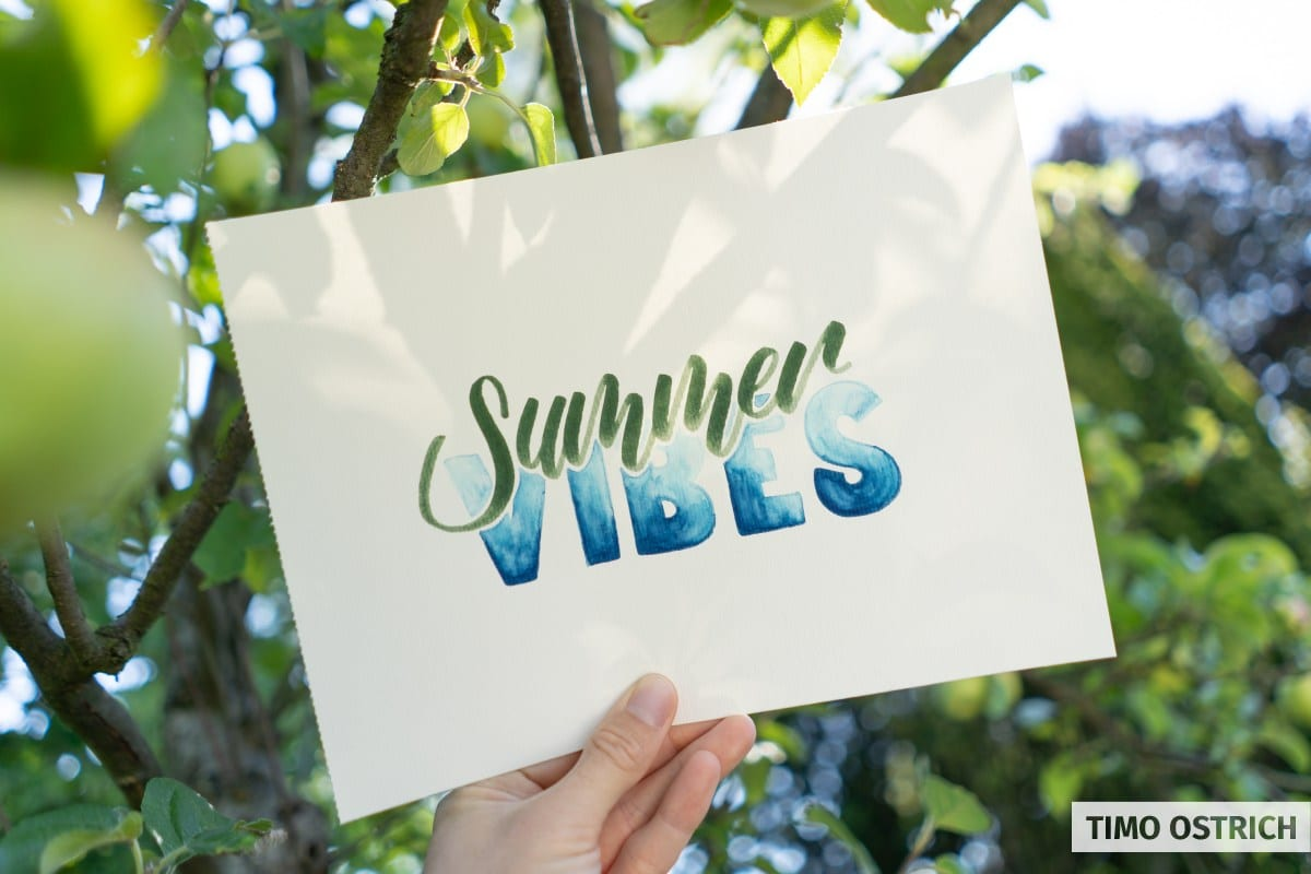 Summer Vibes Handlettering