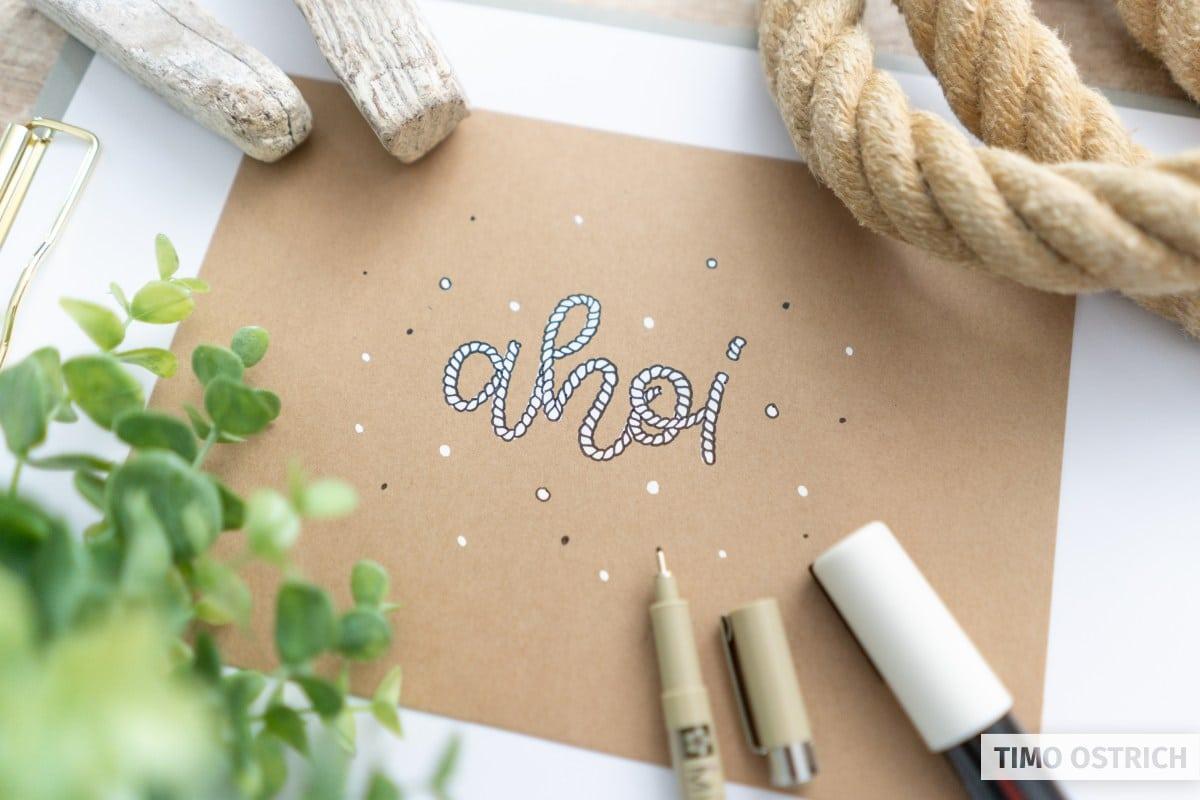Rope Lettering mit einem Marker