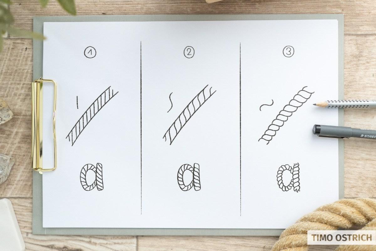 Rope Lettering Varianten