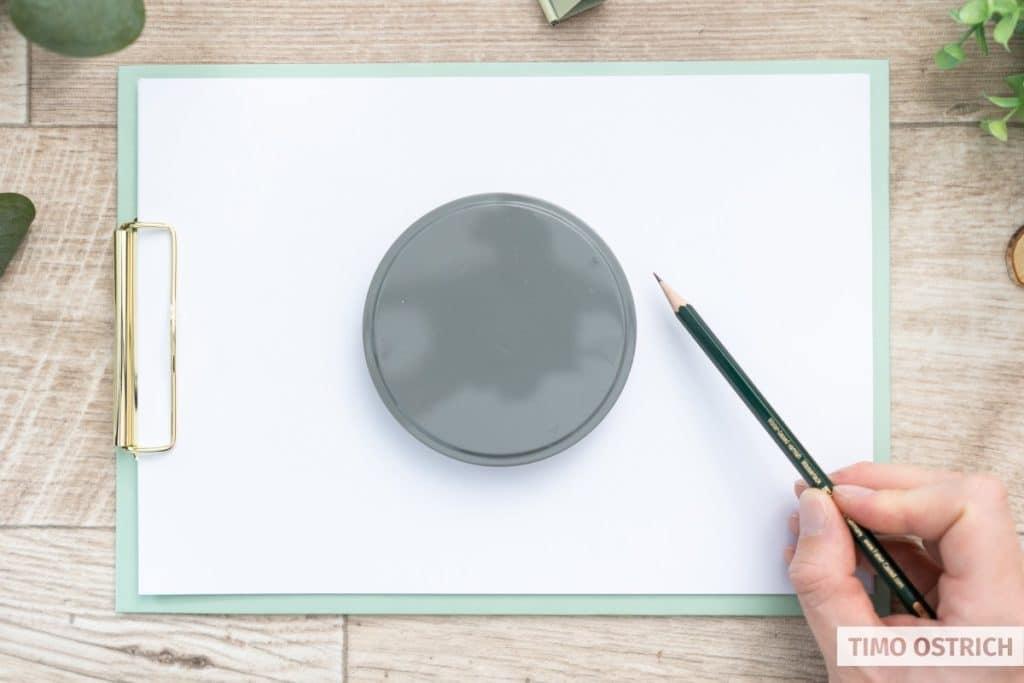 Deckel einer Dose statt Zirkel