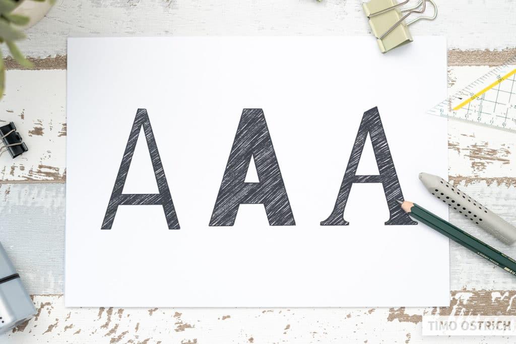 Buchstaben Varianten