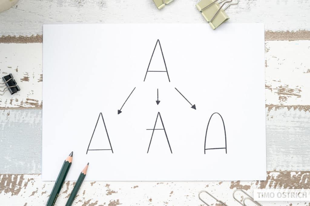 Monoline Buchstaben