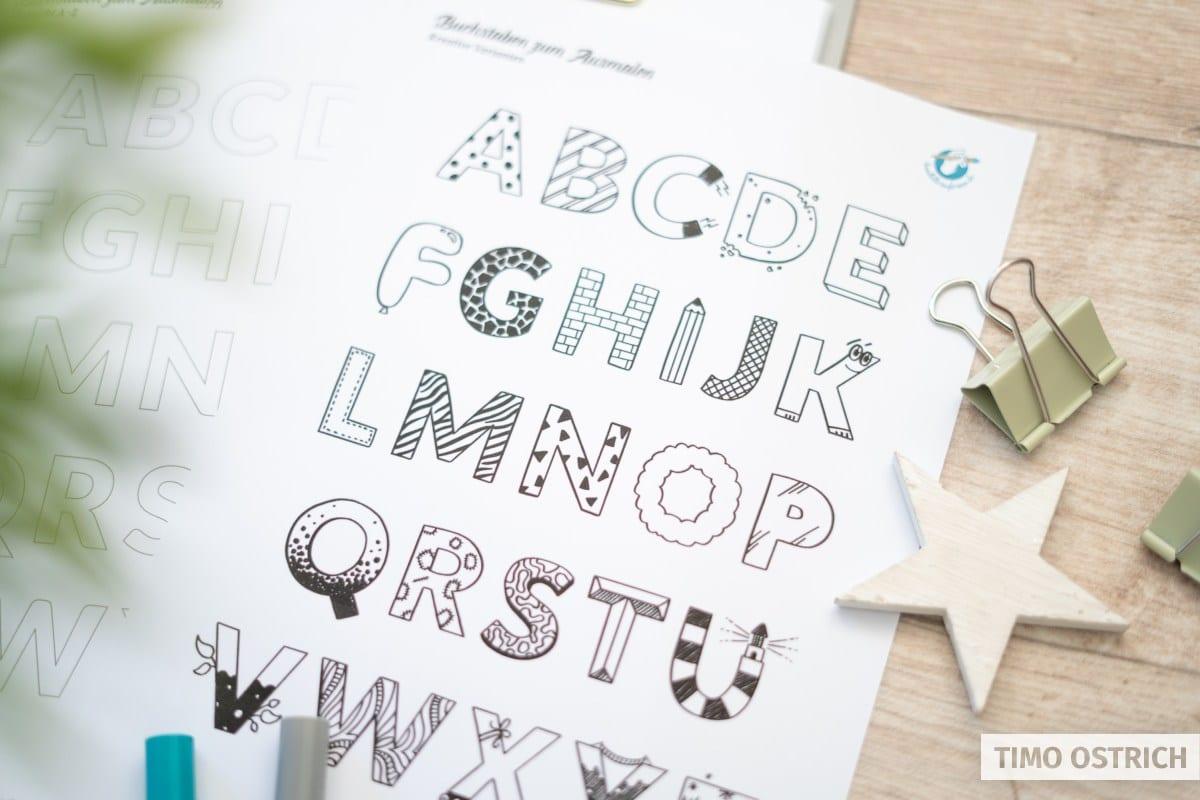 Buchstaben Ausdrucken Vorlagen In A4 - Zahlen Zum