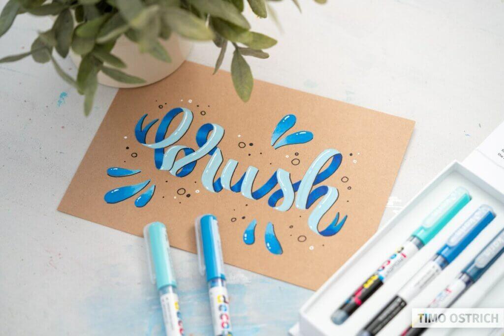 Ribbon Lettering mit den DecoBrushes