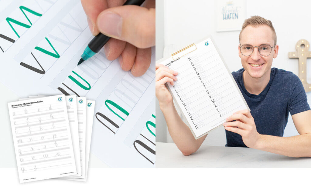 Handlettering Vorlagen & Übungsblätter