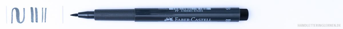 Stift mit Strichstärke Test