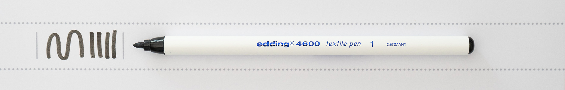 Edding Textil Marker 1mm schwarz