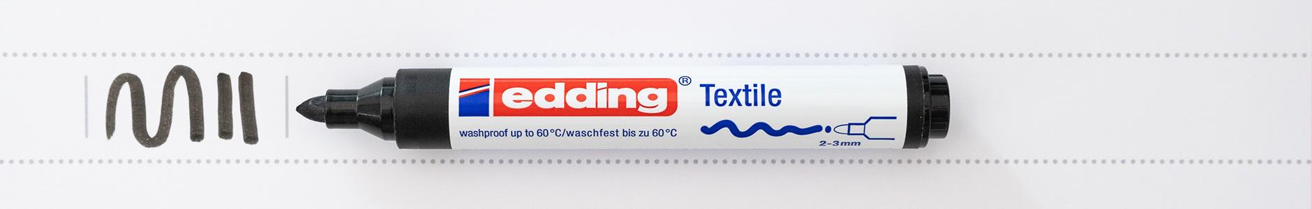 Edding Textil Marker 3mm schwarz