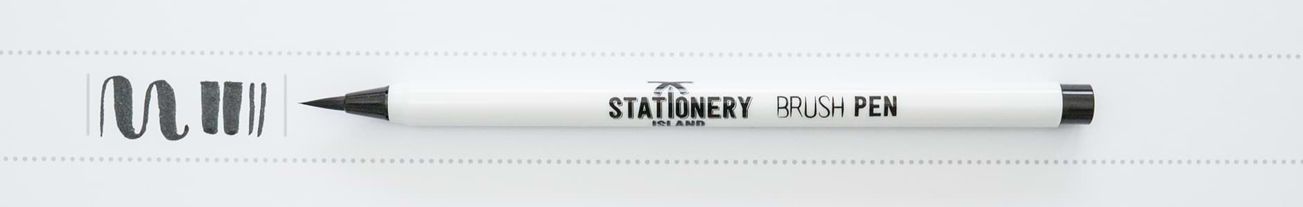 Stationery Island Brush Pen schwarz